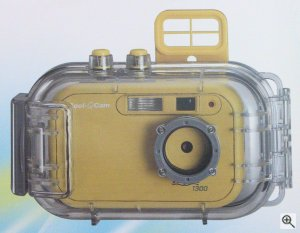 Polaroid's Cool-iCam Aqua 1300 digital camera. Courtesy of Spectra, with modifications by Michael R. Tomkins. Click for a bigger picture!