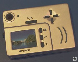 Polaroid's iON 230 digital camera. Copyright (c) 2003, Michael R. Tomkins. Click for a bigger picture!