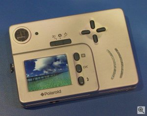 Polaroid's iON 330 digital camera. Copyright (c) 2003, Michael R. Tomkins. Click for a bigger picture!