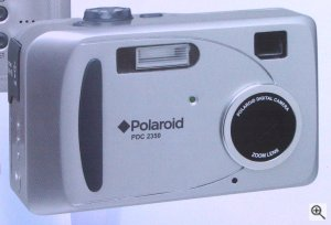 Polaroid's PhotoMAX PDC 2350 digital camera. Courtesy of Spectra, with modifications by Michael R. Tomkins. Click for a bigger picture!