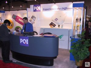 PQI's booth. Copyright (c) 2003, Michael R. Tomkins. All rights reserved.