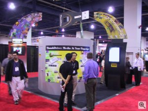 Trek 2000's booth. Copyright (c) 2003, Michael R. Tomkins. All rights reserved. Click for a bigger picture!