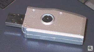 Trek's ThumbDrive camera. Copyright (c) 2003, Michael R. Tomkins. All rights reserved. Click for a bigger picture!