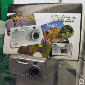 Vivitar's ViviCam 3825 digital camera. Copyright (c) 2003, Michael R. Tomkins. All rights reserved.