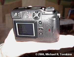 Olympus C-3030 Zoom Rear View - click for a bigger picture!