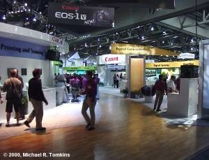 Canon's PMA Booth - click for a bigger picture!