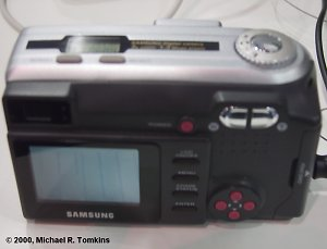 Samsung Digimax 130Z Back View - click for a bigger picture!
