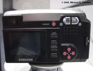 Samsung Digimax 210SE Back View - click for a bigger picture!