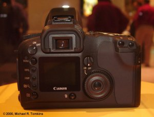 Canon's proposed EOS digital SLR (back view) - click for a bigger picture!