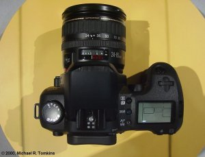 Canon's proposed EOS digital SLR (top view) - click for a bigger picture!