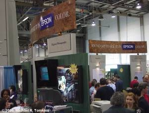 Epson's PMA Booth - click for a bigger picture!