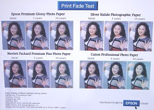 Epson Print Fade Test - click for a bigger picture!