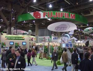 Fuji's PMA Booth - click for a bigger picture!