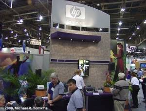 Hewlett-Packard's PMA Booth - click for a bigger picture!