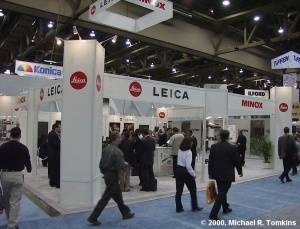 Leica's PMA Booth - click for a bigger picture!