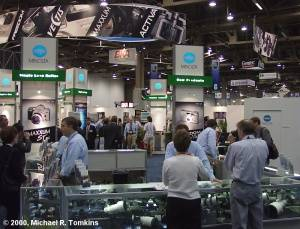 Minolta's PMA Booth - click for a bigger picture!