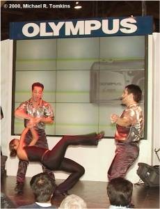 Olympus's PMA Show - click for a bigger picture!