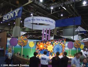 Sony's PMA Booth - click for a bigger picture!