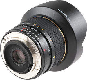 Samyang's 14mm f2.8 IF ED MC Aspherical lens. Photo provided by Samsung Poland. Click for a bigger picture!