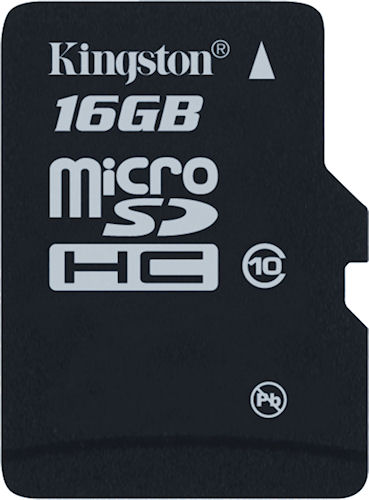 Kingston's 16GB Class 10 MicroSDHC card. Photo provided by Kingston Digital Inc. Click for a bigger picture!