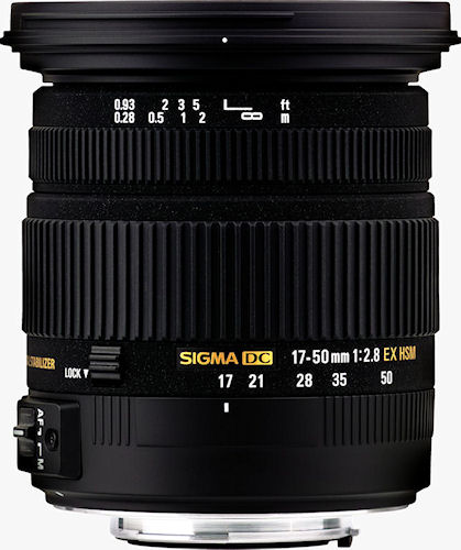 The SIGMA 17-50mm F2.8 EX DC OS HSM lens. Photo provided by Sigma Corp. Click for a bigger picture!