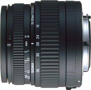 Sigma's 18 - 50mm F3.5 - 5.6 DC lens. Courtesy of Sigma, with modifications by Michael R. Tomkins.