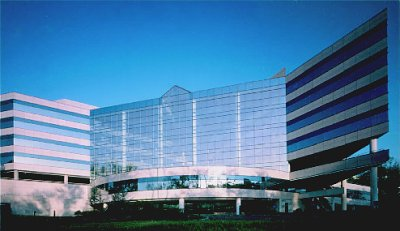 200 Summit Lake, where Fuji's headquarters will move next year. Courtesy of Reckson Associates Realty Corp., with modifications by Michael R. Tomkins.