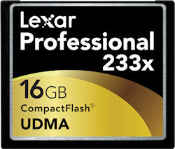 Lexar's 16GB 233x UDMA CompactFlash card. Rendering provided by Lexar Media Inc. Click for a bigger picture!