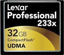 Lexar's 32GB 233x UDMA CompactFlash card. Rendering provided by Lexar Media Inc. Click for a bigger picture!