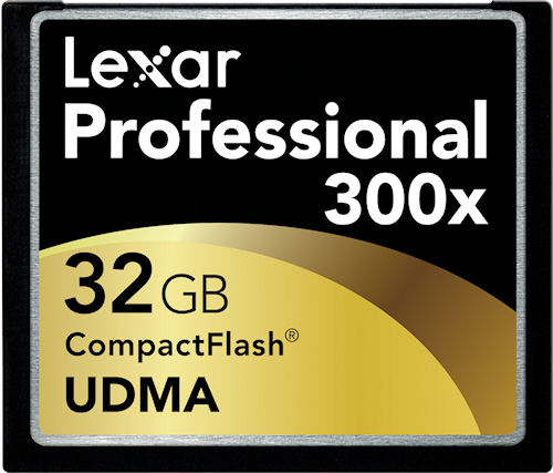 Lexar's 32GB 300x UDMA CompactFlash card. Rendering provided by Lexar Media Inc. Click for a bigger picture!