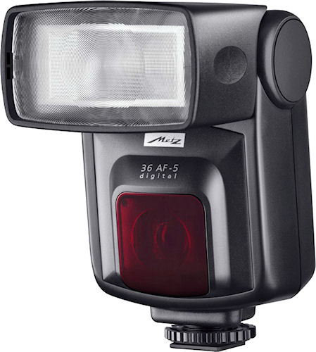 Metz's 36 AF-5 Digital flash strobe. Photo provided by Metz-Werke GmbH & Co KG. Click for a bigger picture!