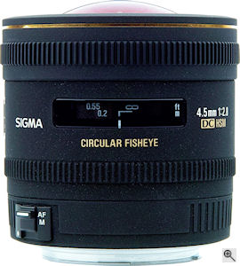 Sigma's 4.5mm F2.8 EX DC Circular Fisheye HSM lens. Click here for a  bigger picture!