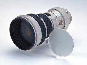 Canon's prototype EF 400mm f4 DO IS USM lens. Courtesy of Canon.