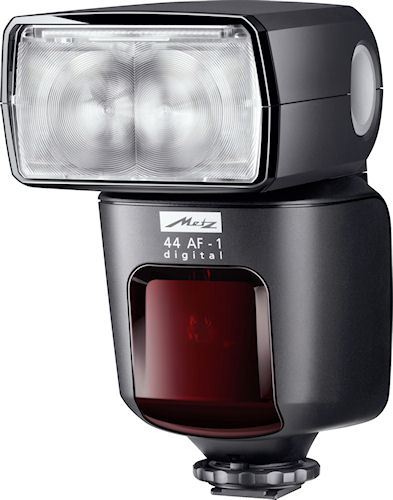 Metz's 44 AF-1 Digital flash strobe. Photo provided by Metz-Werke GmbH & Co KG. Click for a bigger picture!