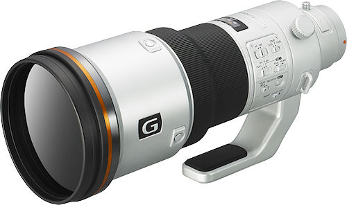 Prototype model of Sony's 500mm F4 G Super Telephoto lens. Photo provided by Sony Electronics Inc. Click for a bigger picture!
