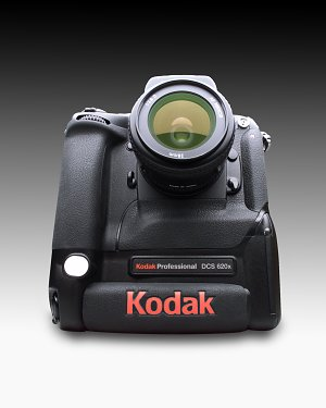 Kodak DCS 620x digital camera  with lens attached - click for a bigger picture!