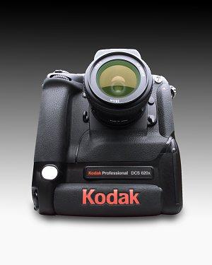 Kodak DCS 620x digital camera  with lens attached - click for a bigger picture!