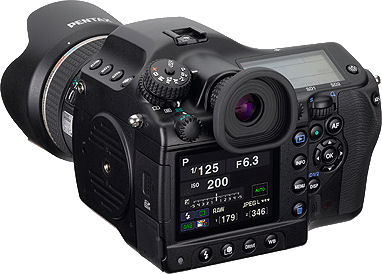 Pentax's 645D digital SLR. Photo provided by Hoya Corp.