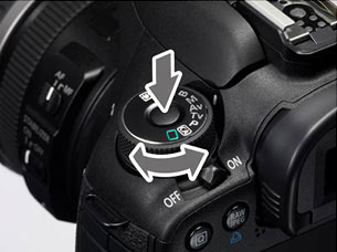 Canon EOS 7D locking mode dial. Rendering provided by Canon Inc. Click for a bigger picture!
