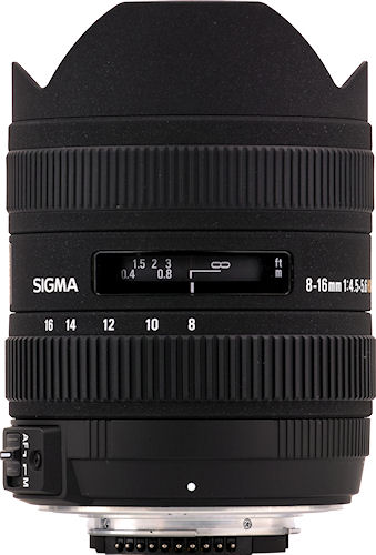 The SIGMA 8-16mm F4.5-5.6 DC HSM lens. Photo provided by Sigma Corp. Click for a bigger picture!