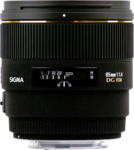 The SIGMA 85mm F1.4 EX DG HSM lens. Photo provided by Sigma Corp. Click for a bigger picture!