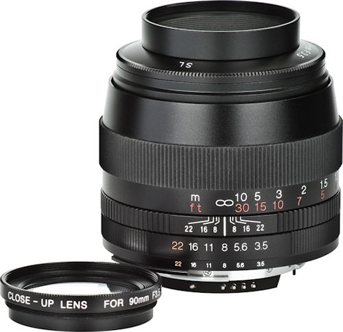 The Voigtländer 90mm / F3.5 SLII APO-Lanthar Classic Collection lens. Photo provided by RINGFOTO GmbH & Co. ALFO Marketing KG. Click for a bigger picture!