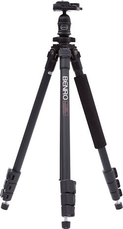 A-150EXU tripod, with legs and center column stowed. Photo provided by MAC Group US. Click for a bigger picture!