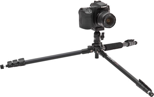 Canon EOS 50D digital SLR on a Benro A-150EXU tripod. Photo provided by MAC Group US. Click for a bigger picture!