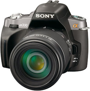 Sony's Alpha DSLR-A330 digital SLR. Photo provided by Sony Electronics Inc. Click for a bigger picture!