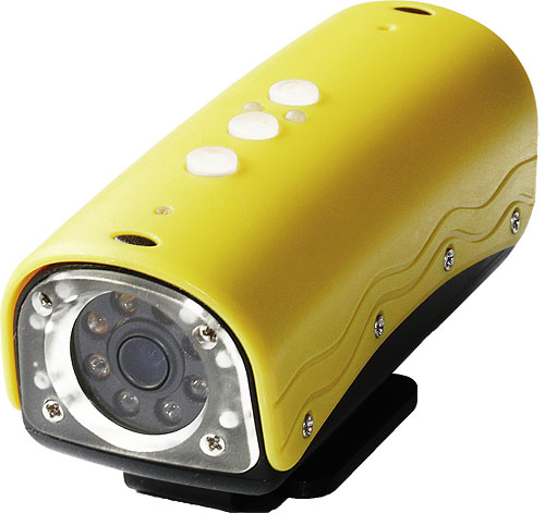 Rollei's ActionCam in yellow color scheme. Photo provided by RCP-Technik GmbH & Co. KG. Click for a bigger picture!