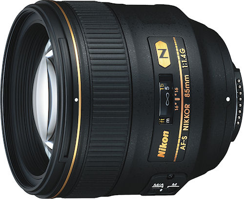 Nikon's AF-S NIKKOR 85mm f/1.4G ED lens. Photo provided by Nikon Inc. Click for a bigger picture!