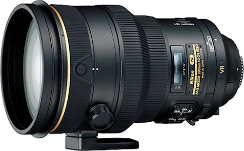 Nikon's AF-S NIKKOR 200mm f/2G ED VR II lens. Photo provided by Nikon Inc. Click for a bigger picture!