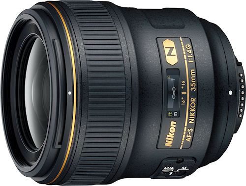 Nikon's AF-S NIKKOR 35mm f/1.4G lens. Photo provided by Nikon Inc. Click for a bigger picture!