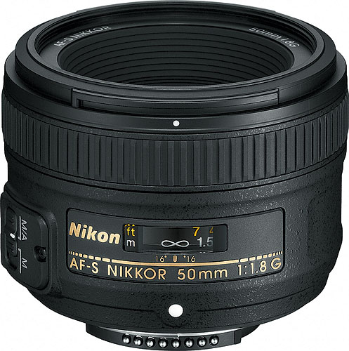 The AF-S NIKKOR 50mm f/1.8G lens. Photo provided by Nikon Inc. Click for a bigger picture!